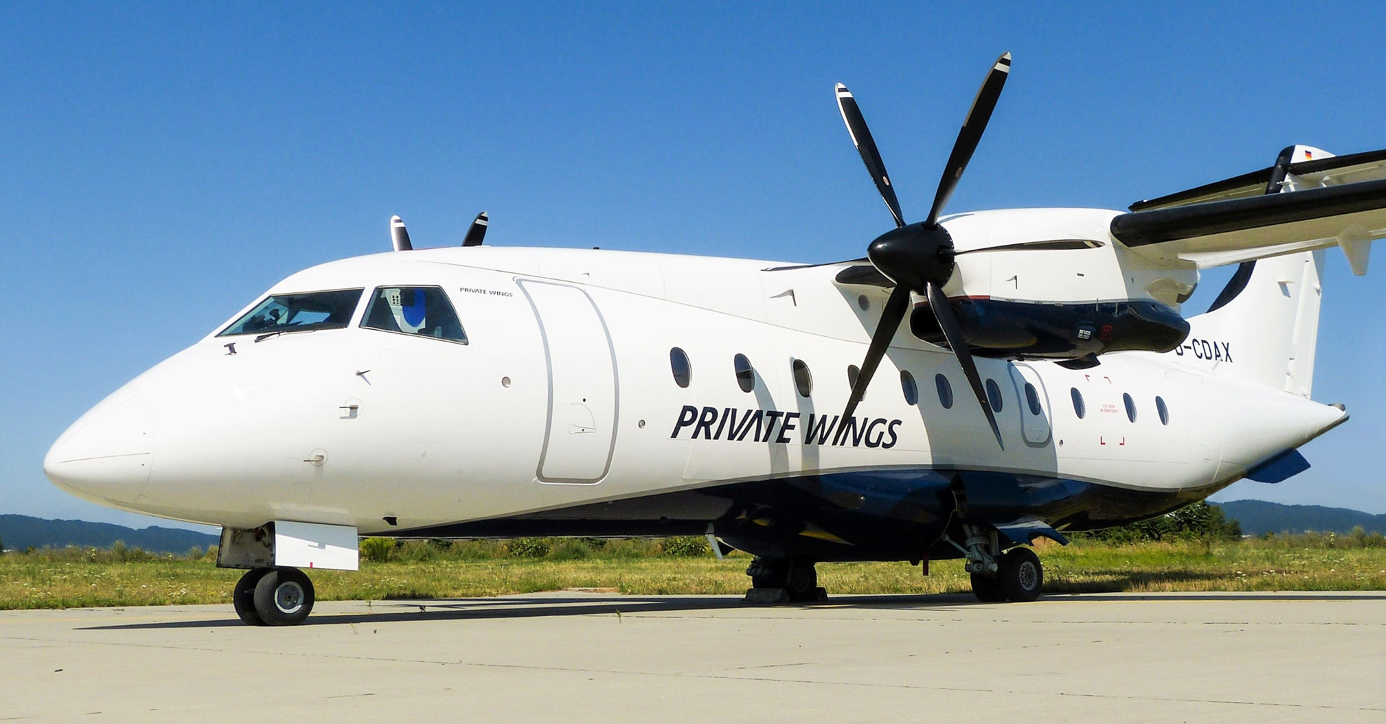 Private Wings Dornier 328-100 in the new livery