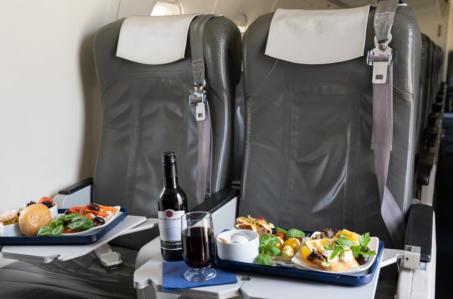 private wings offers VIP catering on board as well as sandwiches and snacks